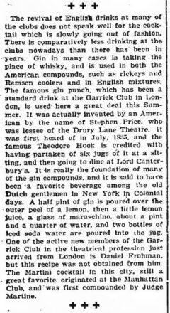 About Clubs and Clubmen. The New York Times, 24. July 1904.