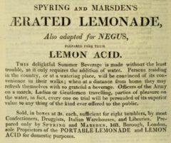 Aerated Lemonade - Repository of Arts, Literature, &c. &c., 1. July 1813.