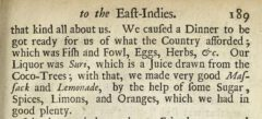 Christopher Frycke & Christoph Schweitzer: A relation of two several voyages made into the East-Indies. 1700. Page 189.