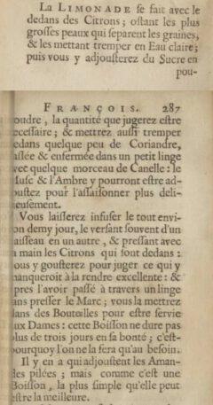 Nicolas de Bonnefons: Le iardenier françois. 1654. Page 286-287