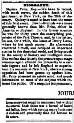 The Literary Gazette, 15. February 1840. Page 108-109.