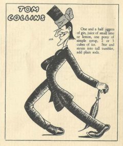 Jean Robert Meyer: Bottoms Up. 1934. Page 31. Tom Collins.