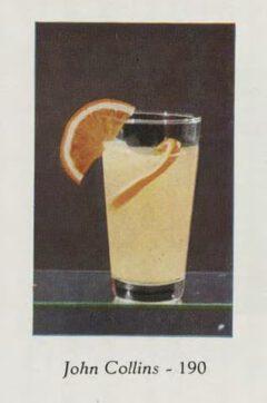 Marcel et Roger Luc: Cocktails et grand crus. 1953. Page 68. John Collins Cocktail.