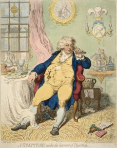 Caricature of George IV, as Prince of Wales, 1792.
