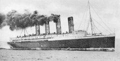 RMS Lusitania in 1907.