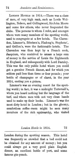 Rees Howell Gronow: Reminiscences of Captain Gronow. London, 1862. Page 74-75.