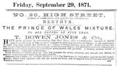 The Merthyr Telegraph, 29. September 1871, page 2.