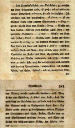 David Schöpf: Reise durch einige der mittleren und südlichen vereinigten nordamerikanischen Staaten, Zweyter Teil, 1788, page 346-347.
