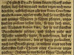 Anonymus: Der Englische Held und Ritter Franciscus Dracke. 1727, page 79.