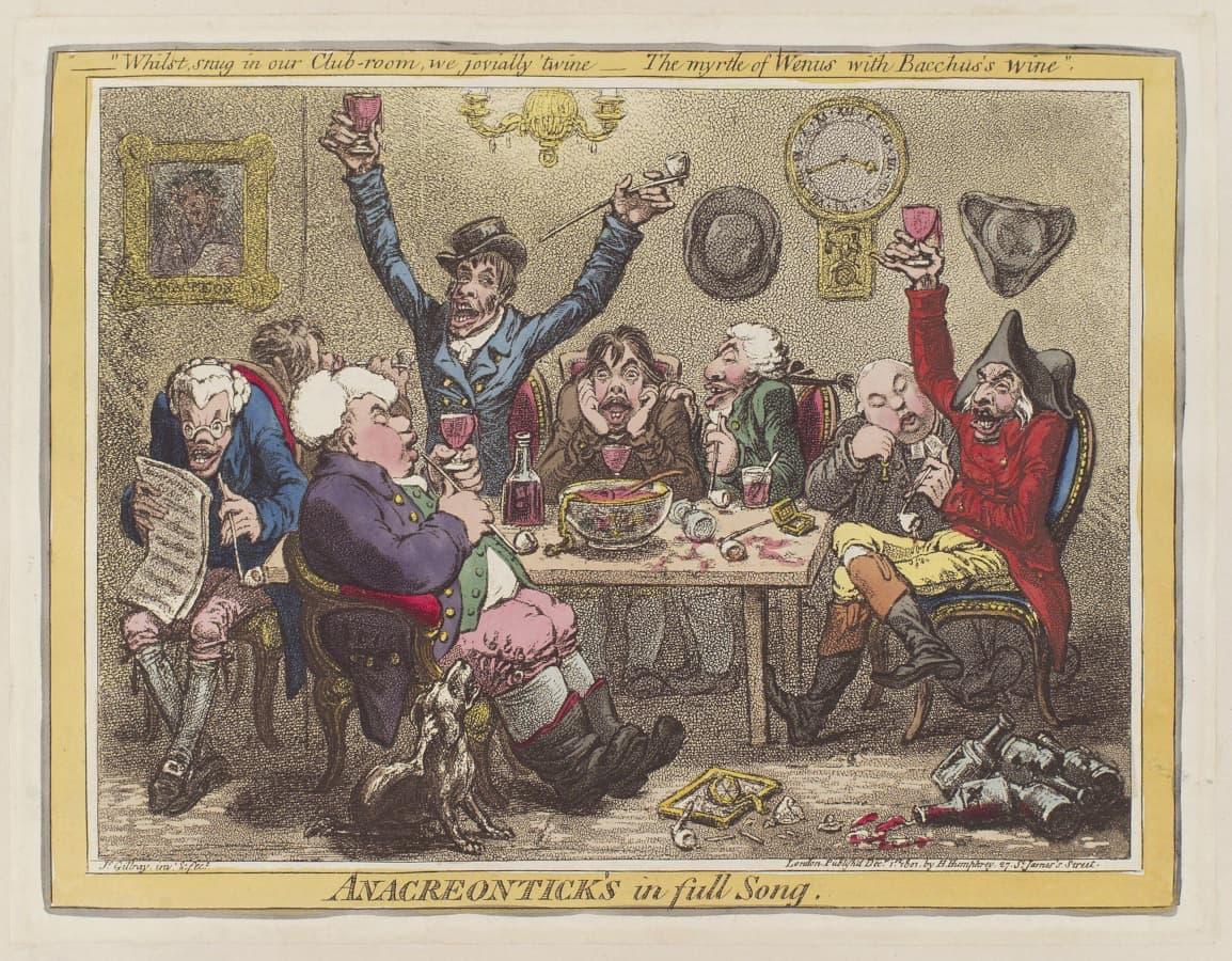 James Gillray: Anacreontick's in full song, 1801.