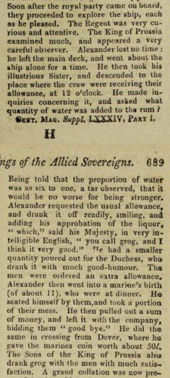 The Gentleman's Magazine. Vol. 84, part 1. London, 1814, page 689.