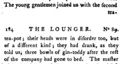 The Lounger. Vol. 3. London, 1788, page 183-184.