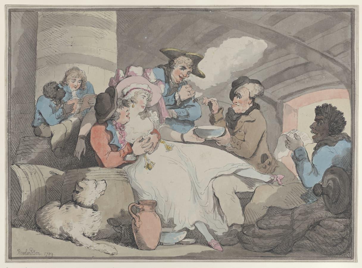 Thomas Rowlandson: Grog on Board, 1789.