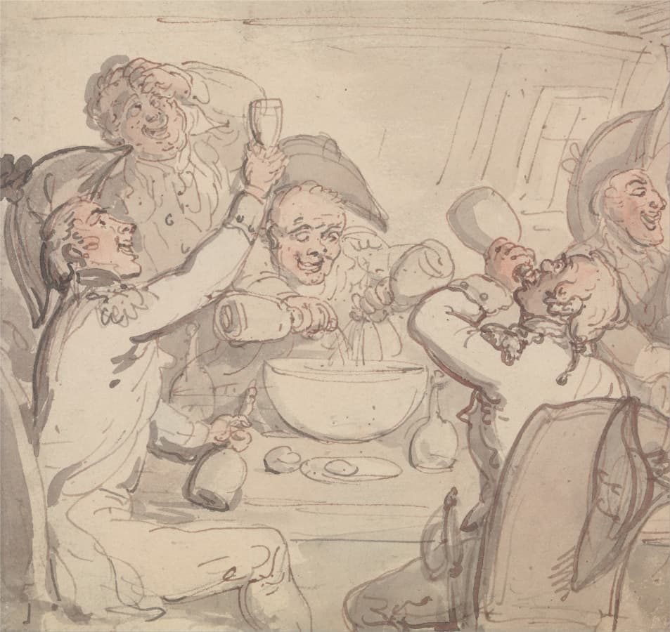 Thomas Rowlandson: Naval Officers and a Bowl of Punch.