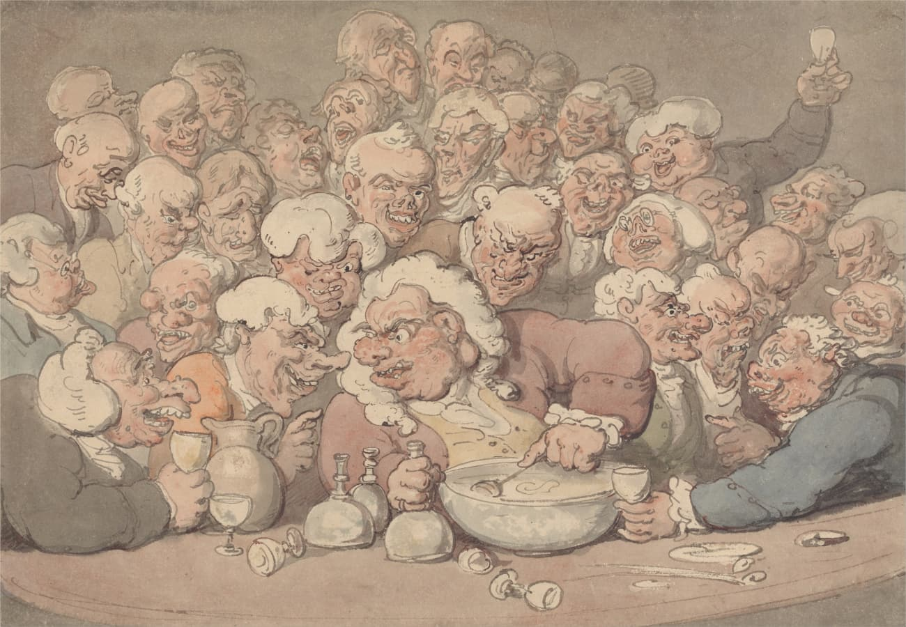 Thomas Rowlandson: Serving Punch, between 1815 and 1820.
