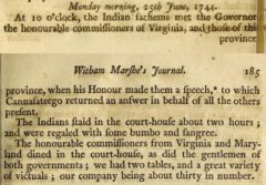 Anonymus: Collections of the Massachusetts Historical Society, for the year 1800. Boston, 1801, page 184-185.