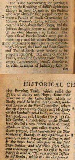 The Gentleman's Magazine. Vol. 6. London, 1736, page 550-551.
